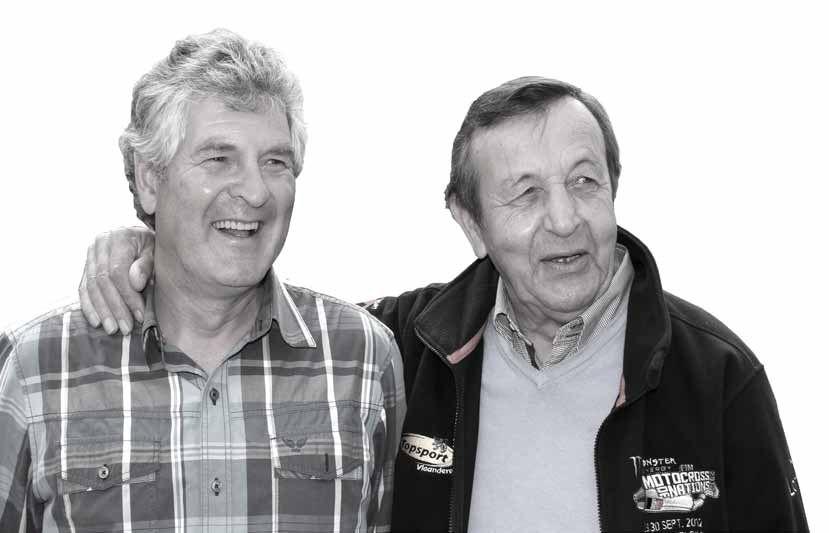 Aan het begin van Vromans loopbaan ging Maurice Vandenboer (rechts) bijna altijd met hem mee. Vandenboer is nu gepensioneerd, maar nog steeds beheerder van het circuit in Lommel, dat zes dagen per week open is.