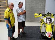 Sylvain Geboers (links) was één van de toppers in de 250 cc toen Vromans begon met zijn crosscarrière. Beiden groeiden op in de Belgische Kempen, nabij het circuit van Lommel.
