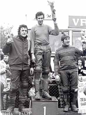 In 1973 waren de crossbroeken nog van leer en de mannen van staal. Jan van Beek won de wedstrijd in Meijel voor Wiebe Plötz en de Belg Marcel Wiertz.