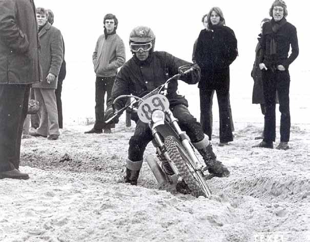 Ook Jan kwam in 1972 in actie in de betrouwbaarheidsrit op Texel.